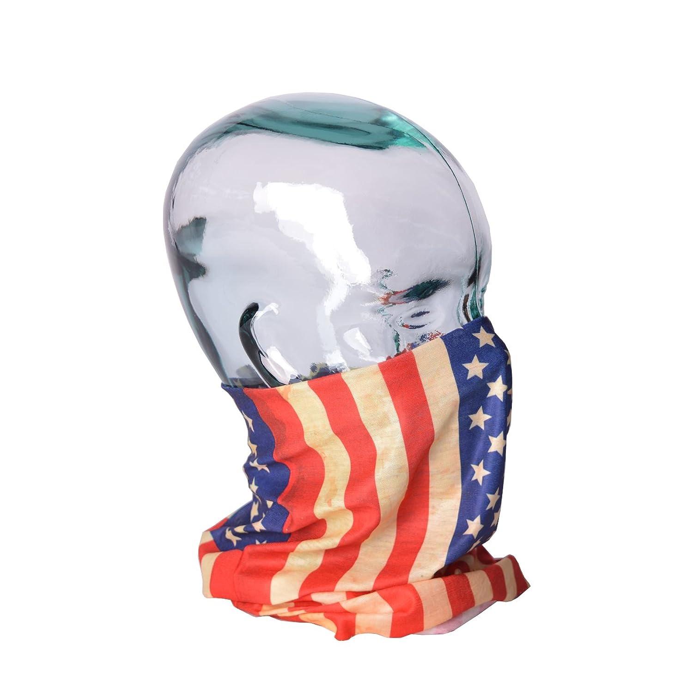 Schlauchschal Modell USA Flag Multifunktionstuch Schlauchtuch für Biker Motorrad Freizeit