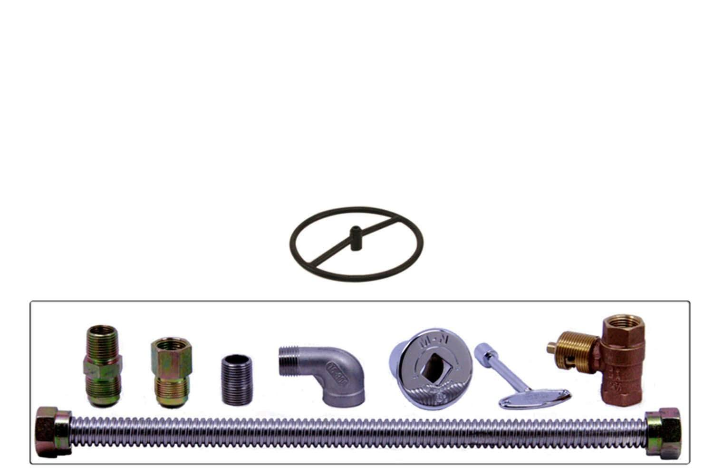 Spotix HPC Round Fire Pit Burner Kit (FP12KIT-NG-MSCB), 12-Inch Burner, Match Light, Cold Rolled Steel, Natural Gas by Spotix