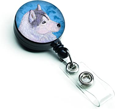 Adorable Chow Chow Dog Badge Reel ID Holder