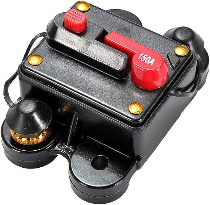 E Support 12v 150a Kfz Manuelle Reset Schalter Audio Inline Leistungsschalter Sicherungshalter Schutz Sicherung Zurücksetzen Auto