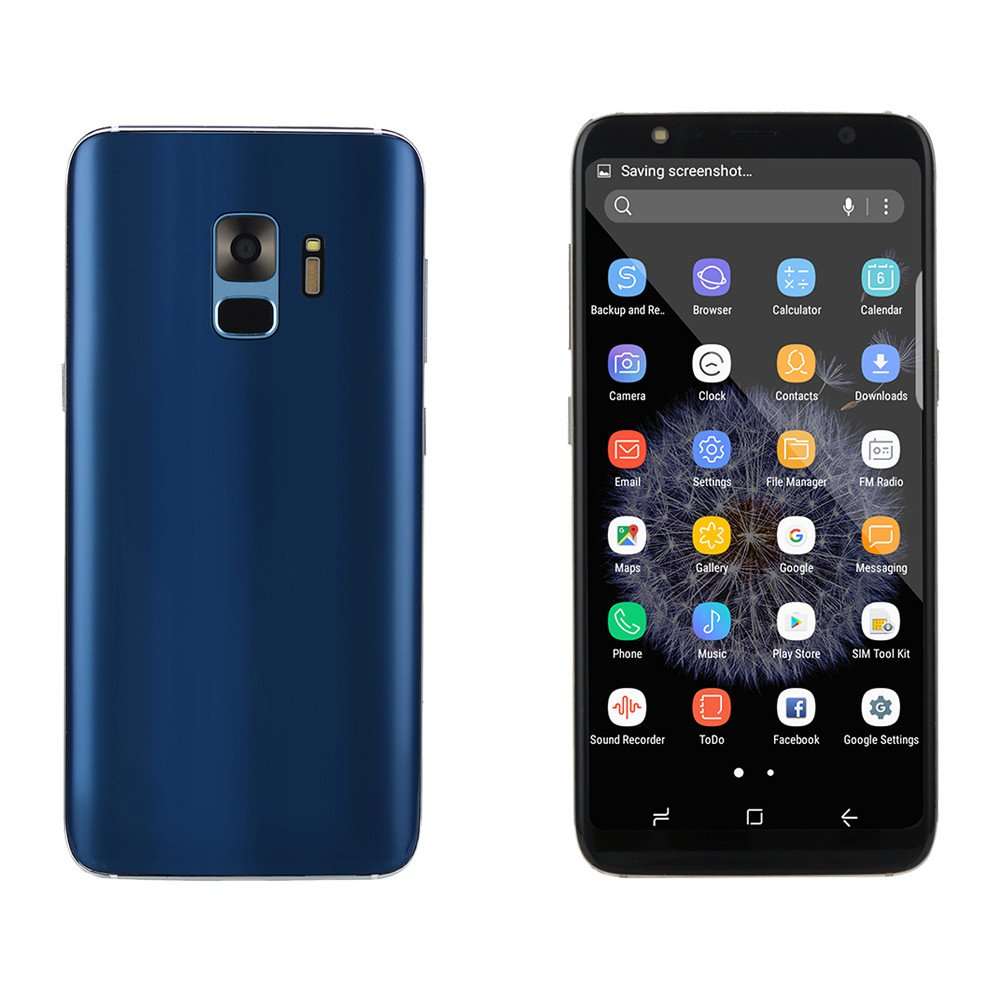Unlocked Android Smartphone -5.8'' Full Screen Dual SIM Dual HD Camera Cell Phone 1G+8G GPS 3G Call Mobile Phone (Blue, S9)