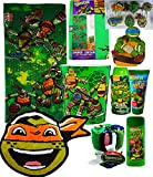 Teenage Mutant Ninja Turtles Mega Bathroom Accessories Gift Set Includes Teenage Mutant Ninja Turtles Bath Towel, Waste Basket, Bath Rug, Shower Curtain And More