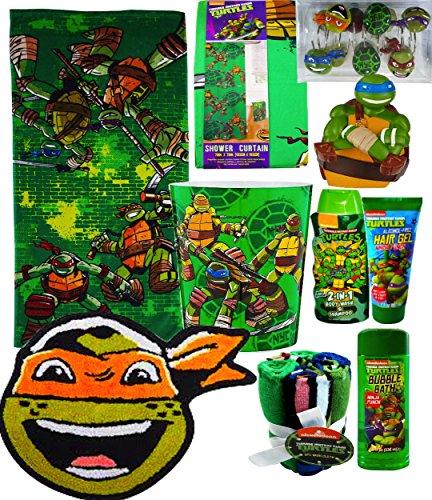 ninja turtle shower curtain hooks - 4