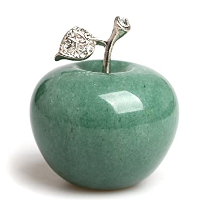 Amazon.com: Hongjintian Natural Green Aventurine Carved Apple ...