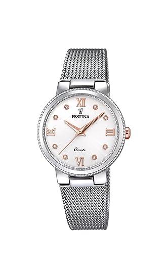 Festina Reloj Análogo clásico para Mujer de Cuarzo con Correa en Acero Inoxidable F16965/4: Amazon.es: Relojes