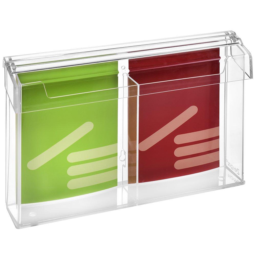 2moduli DIN A5Prospetto scatola/Espositore per volantini in formato verticale, resistente alle intemperie, per esterno, con coperchio, in materiale acrilico trasparente, vetro–zeigis® vetro-zeigis® Unbekannt A0364