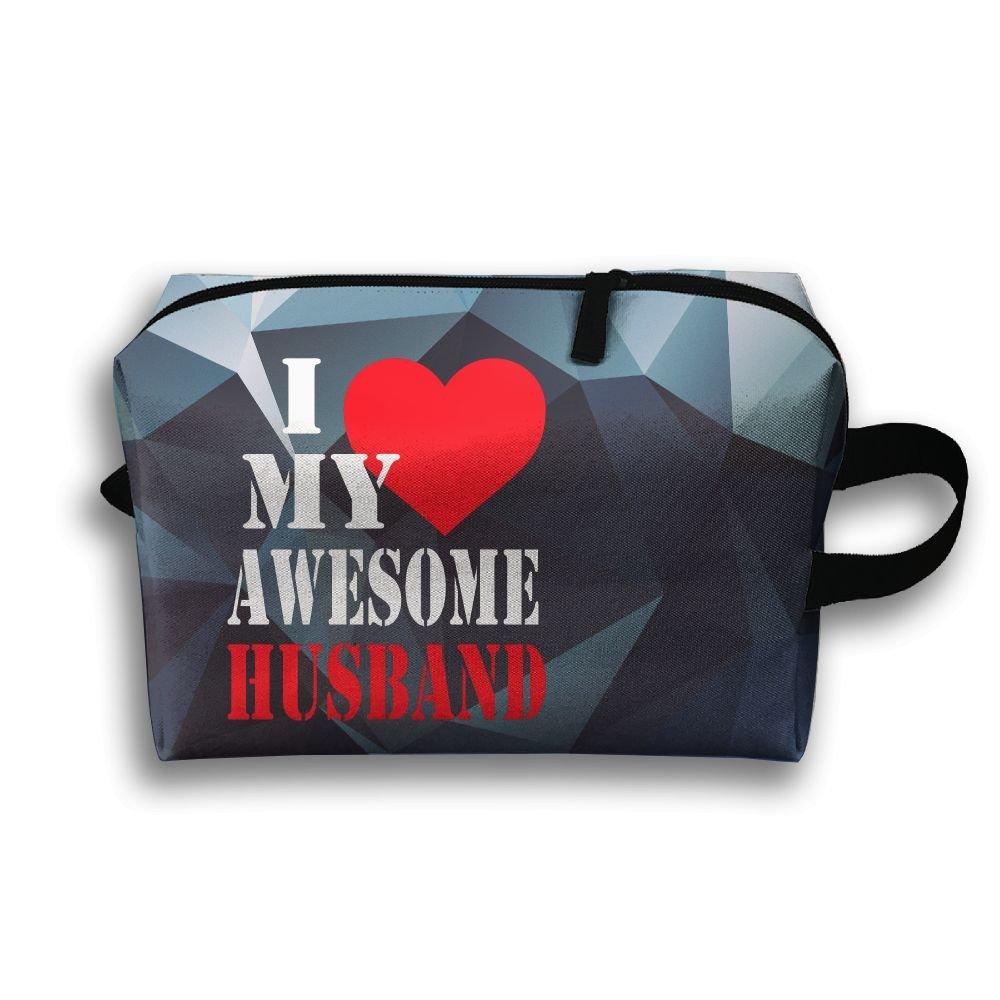 I Love My Husband Travel Bag Multifunction Portable Toiletry Bag Organizer Storage