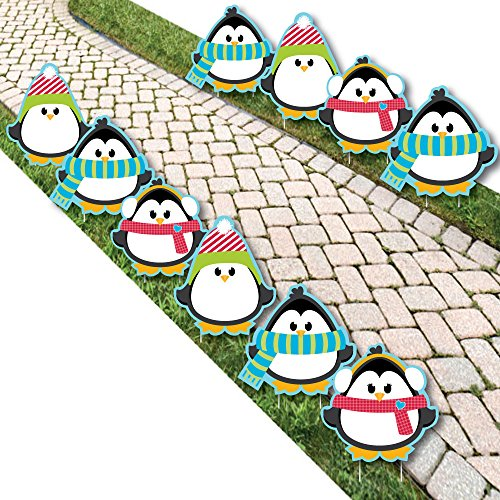 Holly Jolly Penguin - Penguin Lawn Decorations - Outdoor Holiday & Christmas Yard Decorations - 10 ()