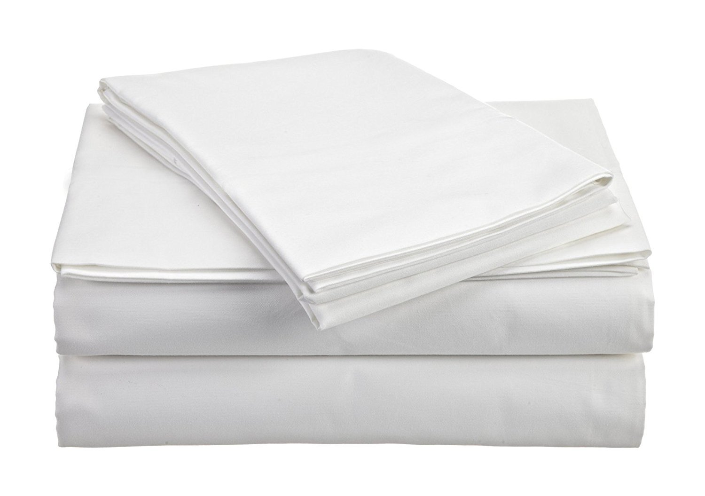 The Green Farmer Organic Cotton Sheet Set Bedding,300 Thread Count,GOTS Certified, 100% Organic Cotton, Eco-Friendly, Queen, Swan White