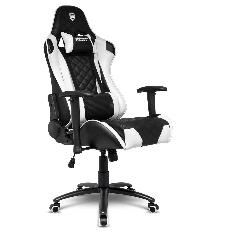 Empire Gaming - Sillón Racing 700 serie Negra/Blanca ...