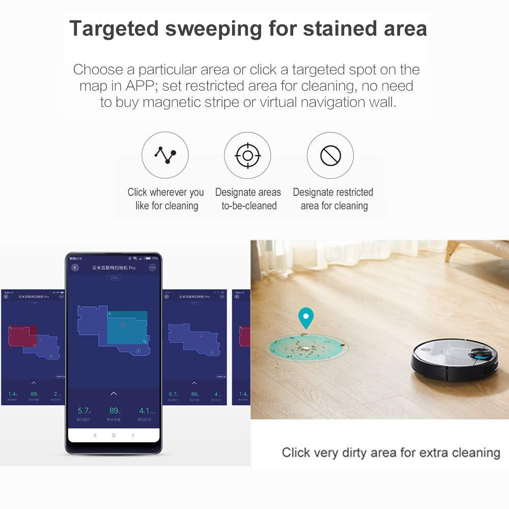 VIOMI Aspiradora de Robot Inteligente Pro Floor 2150PA App Virtual Wall V2