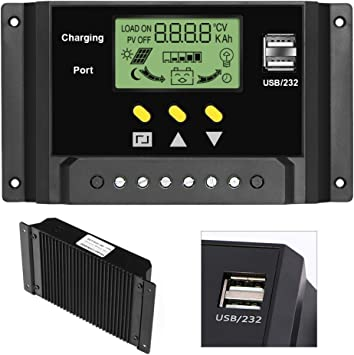 20A//30A 12V//24V PWM Solar Panel Battery Regulator Charge Controller  AU TC