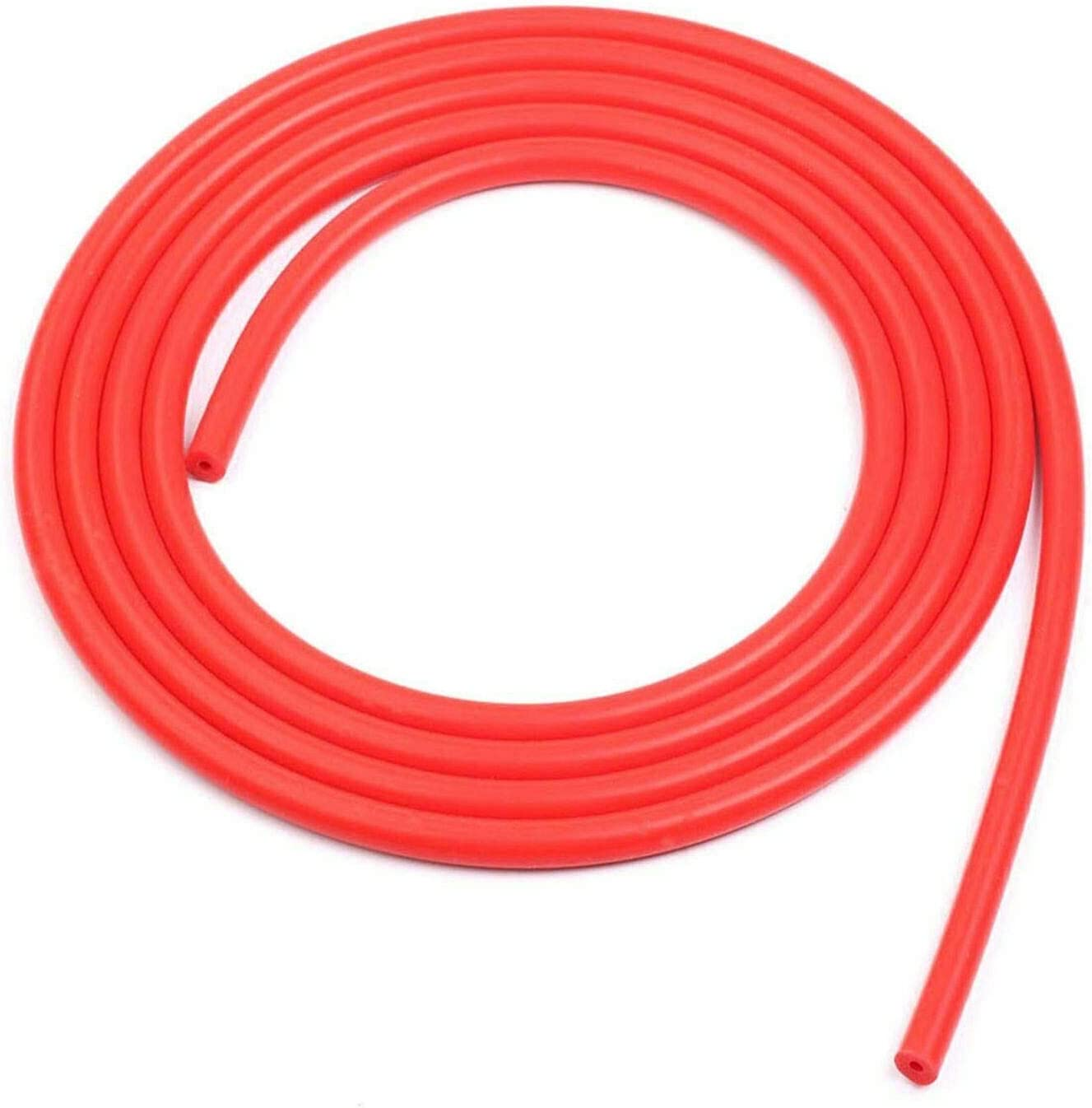 LTI Universal 10 Feet Length Universal 10mm (3/8 Inch) Inner Diameter High Performance Silicone Vacuum Hose Line (10MM, RED)