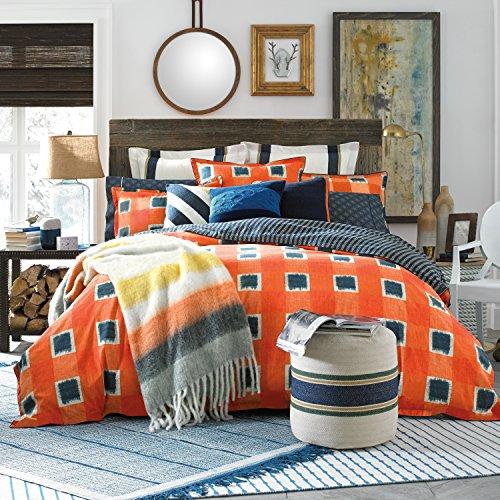 Tommy Hilfiger St Andrews Comforter, Twin, Orange