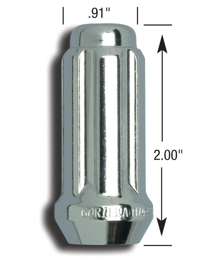 -Pack of 32 Gorilla Automotive 26195HT Small Diameter Duplex Acorn Chrome 8 Lug Kit 9//16-Inch Thread Size