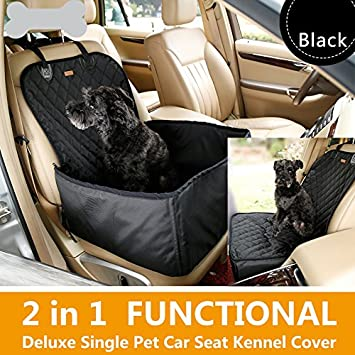 Waterproof Pet Booster Seats Nonslip Dog Cat Safety Front Seat Cover Puppy Car Mat