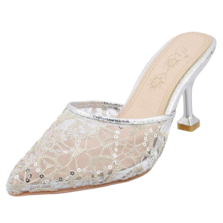 9b9c1c7c Venta caliente 2018 Coolcept Mujer Cerrado Mules Zapatos con Tacones ...