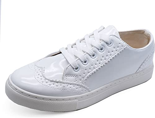 Ladies White Flats Loafers Trainers