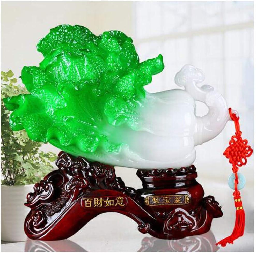 Adeキャベツオフィス装飾、創造的な贈り物、幸運、家の装飾 (Color : White, Size : S)