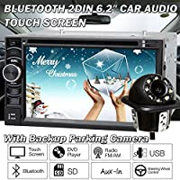 For Toyota Camry 2002-06 FJ Cruiser 2007-10 Double 2Din 6.2 Car Stereo Radio Head Unit Touch Screen In Dash MP3 Player + Rear View Camera, 2 Year Warranty