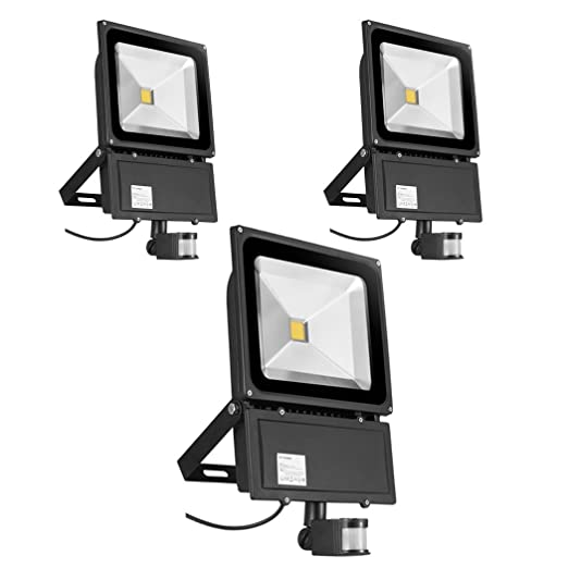 Foco con Sensor de Movimiento 3X 100W,PrimLight Proyector Led ...