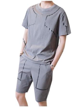ANDYOU-Men La mitad de los bolsillos del pantalón de manga corta ...