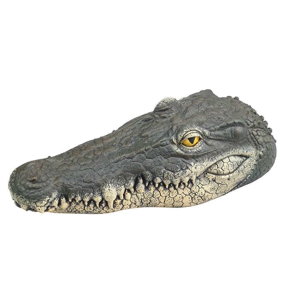 K-Y Flottant Crocodile T/ête deau De Jardin /Étang Art D/écor pour Le Contr/ôle De LOie Nouveau