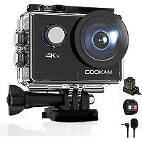 GOOKAM 4K 20MP sportowa kamera sportowa WiFi podwodna 40 m wodoodporna kamera 170° szeroki kąt 2 cali ekran LCD z…