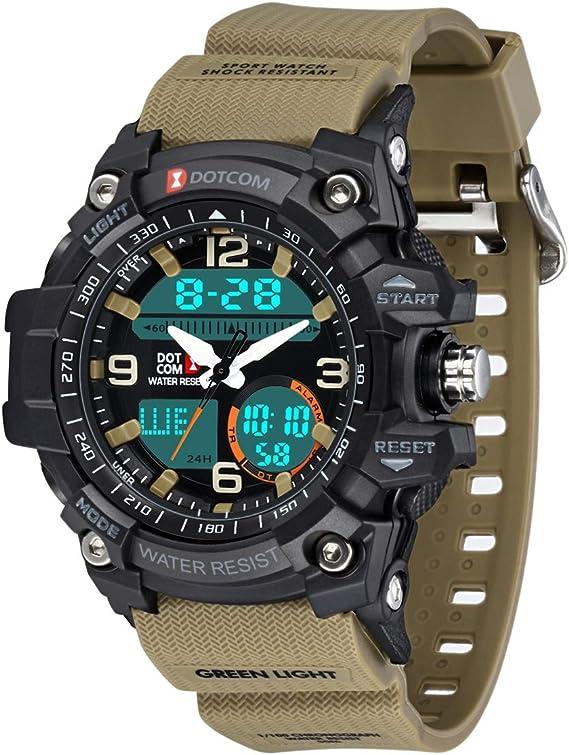 Reloj de Estilo Militar para Adolescentes y Hombres, Reloj ...