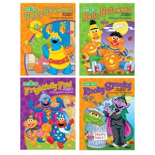 Sesame Street Halloween Jumbo Coloring Book Assortment -