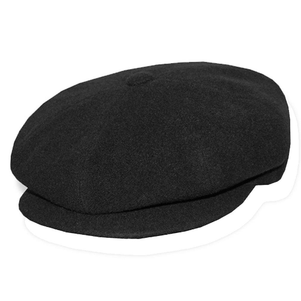 Borsalino 8/4 Style Wool/Cashmere Cap - Black - Black - 58