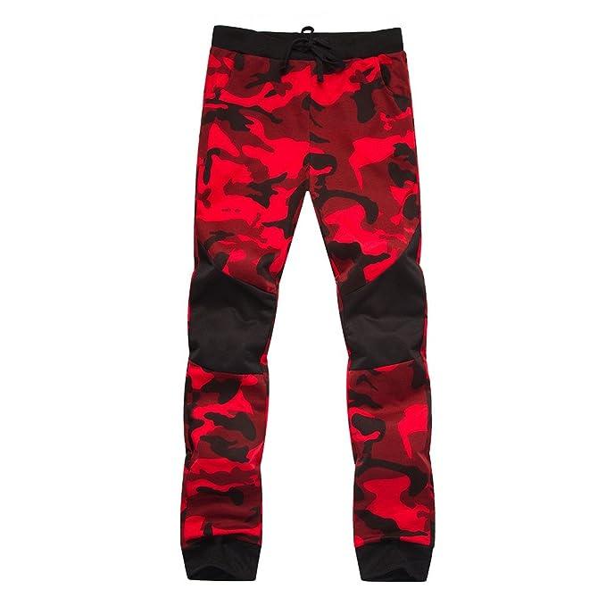 YanHoo Pantalones de Hombre Pantalones de chándal de Camuflaje ...