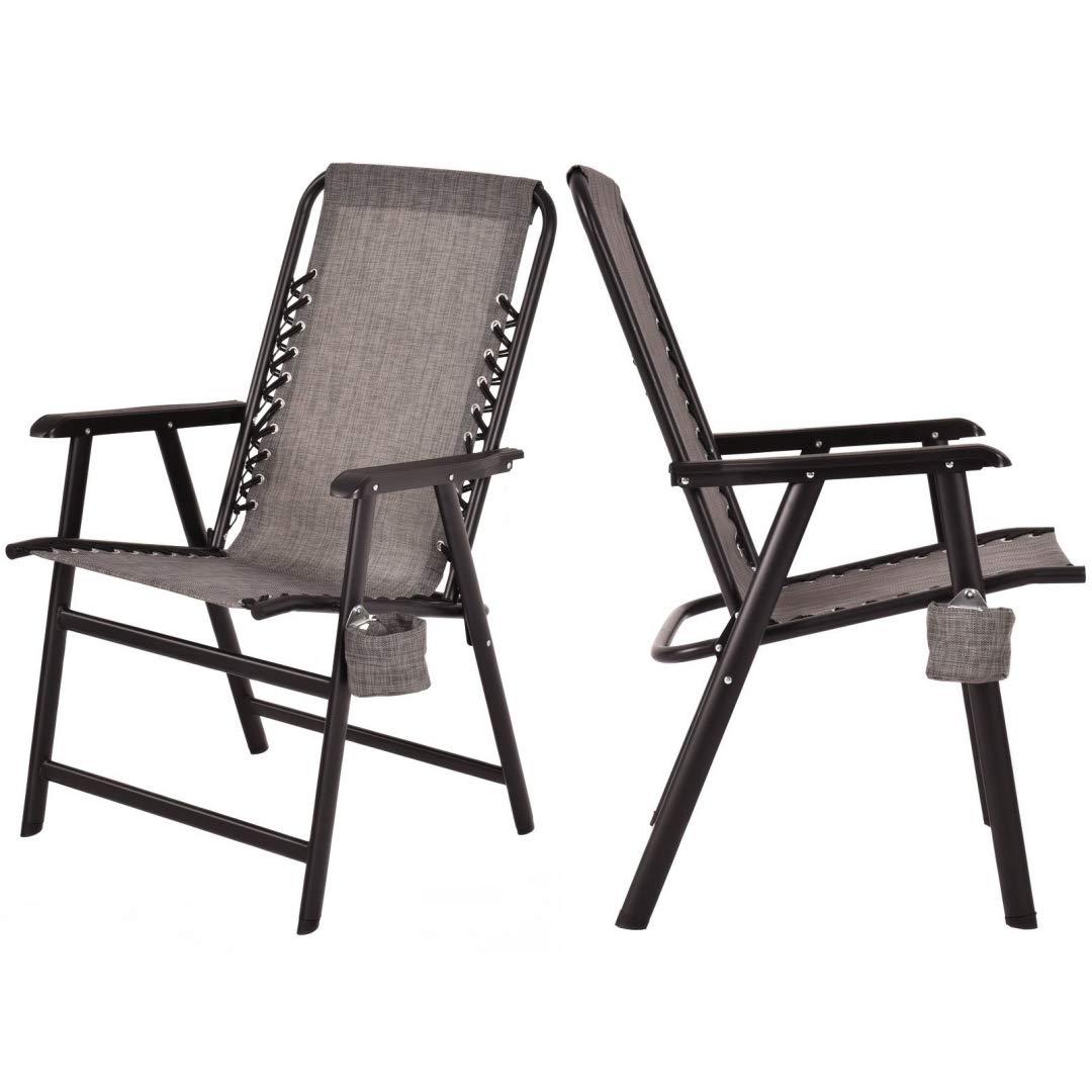 Amazon.com: KLS14 - Juego de 2 sillas plegables de tela de ...