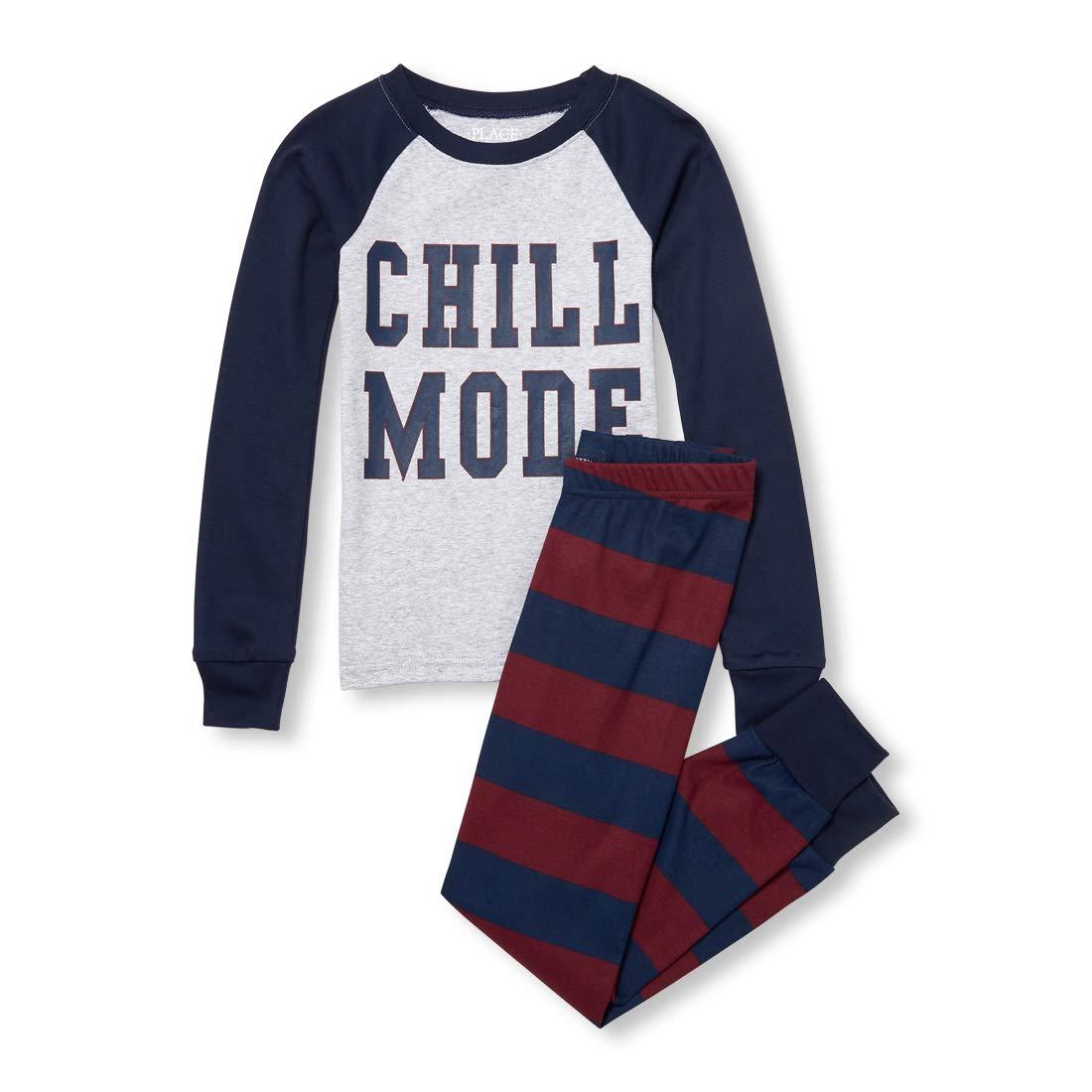 The Children's Place Big Boys' Chill Pajama Set