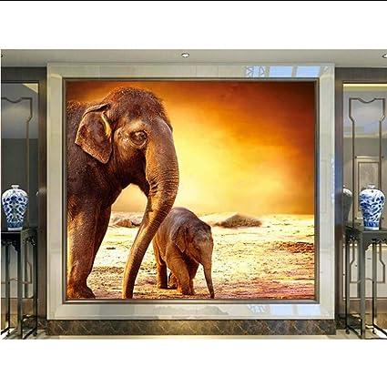 Meaosy Personnalise Mere Elephant Et Bebe Elephant Sous Le