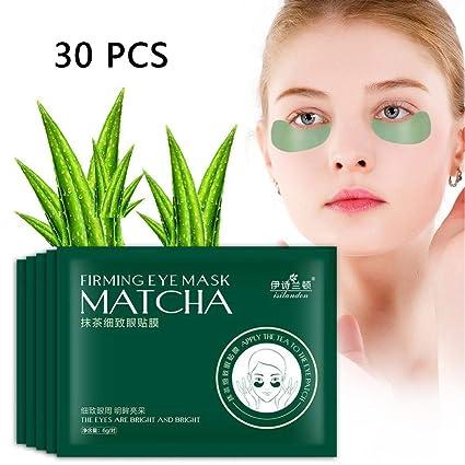 30 pares de máscaras de Té Verde Hidratante Antienvejecimiento y Antiarrugas y Eliminar en Bolsas en Los Ojeras y Bolsas Máscara para los ojos