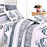 Blancho Bedding - [Purple Deer Totem] 100% Cotton 3PC Comforter Cover/Duvet Cover Combo (Twin Size)