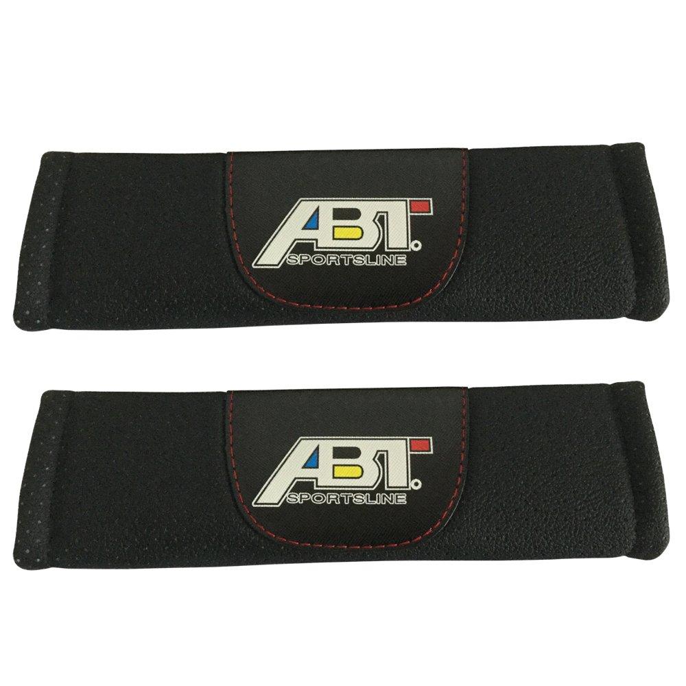 ABT スポーツライン カーシート 安全ベルトカバー レザーショルダーパッドアクセサリー アウディ R8 RS3 RS5 RS7 S3 S4 S5 S6 S7 S8 SQ5 TT用 2点セット   B07FKPJ3PV