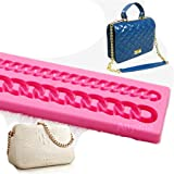 Anyana Diamond Chain Silicone Fondant Mold Cake Decorating Pastry Gum Paste Tool Kitchen chocolate Sugarcraft Baking Mould Cookie DIY