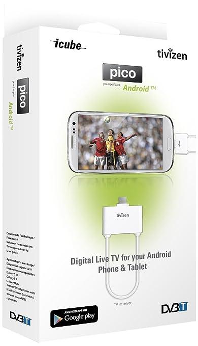 12 opinioni per iCube Tivizen Pico Android, Ricevitore DVB-T per Smartphone e Tablet Android