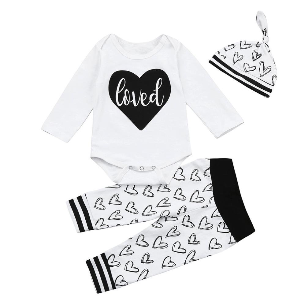 Coerni Baby Kids Cute Cotton Romper+Pants+Hat Set of 3