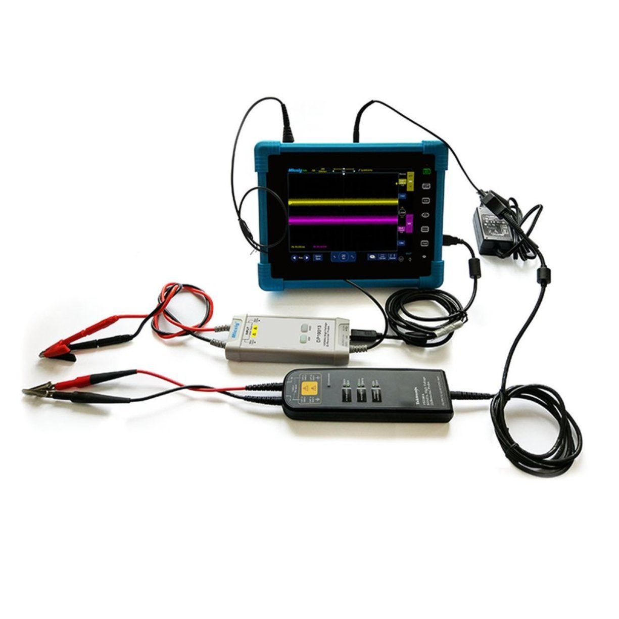 Micsig DP10013 High Voltage Differential Probe 1300V 100MHz 3.5ns Rise Time 50X//500X Attenuation Tektronix P5200A P5205A P5210A