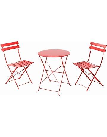 Grand Patio Conjunto de Mesa y sillas Plegables para Exterior, Ideal para balcón o jardín