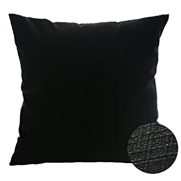 Deconovo Faux Linen Cushion Cover with Invisible Zipper Throw Pillow Cover for Sofa Cushion 18x18 Inch