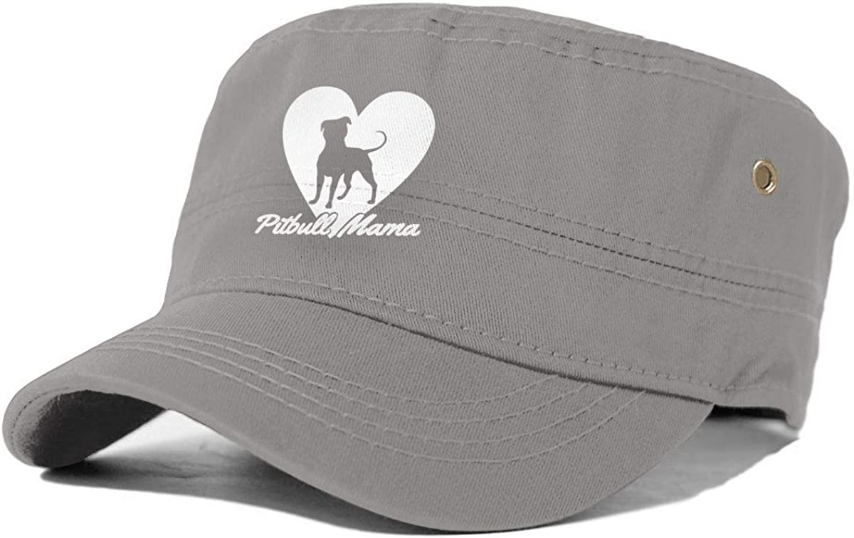 Pitbull Mama Dog Lover Gift Men Classics Cap Womens Fashion Hat Baseball Cap Gray
