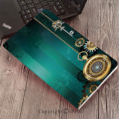 (Samsung Tab S3 9.7 SM-T820 SM-T825 Tablet Case Protective Cover Crystal Case,Industrial,Antique Items Watches Keys and Chains with Steampunk Influences Illustration Decorative,Multicolor )