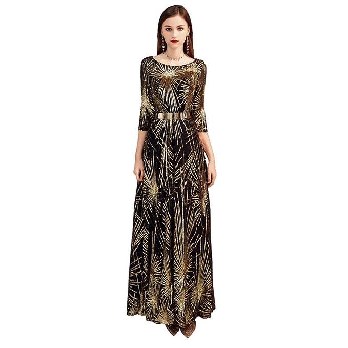 JUASEA Vestido Largo Elegante para Mujer de Fiesta para Boda ...