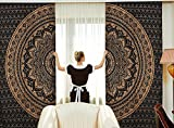 Sophia Art Indian Ombre Mandala Hippie Curtains Bohemian Psychedelic Window Curtain Indian Drape Handmade Curtain Panel (Black&Golden) Review