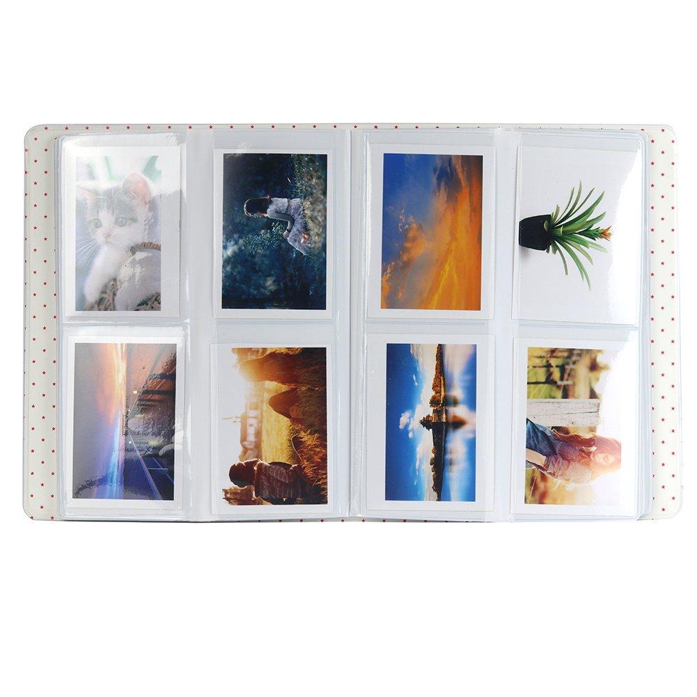 9 7s 25 26 50s 70 90 C/ámara Instant/ánea y Tarjeta de Nombre Anter Instax Mini /Álbum de Fotos para Fujifilm Instax Mini 8 8 64 Pocket, Ice Blue B