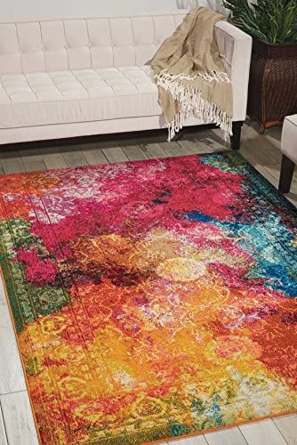 Nourison Celestial Modern Bohemian Seaglass Multicolored Area Rug 5 Feet 3 Inche